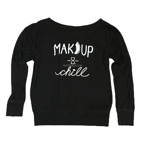 MAKEUP & CHILL OFF SHOULDER TOP