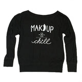 MAKEUP & CHILL OFF SHOULDER TOP (BLACK)