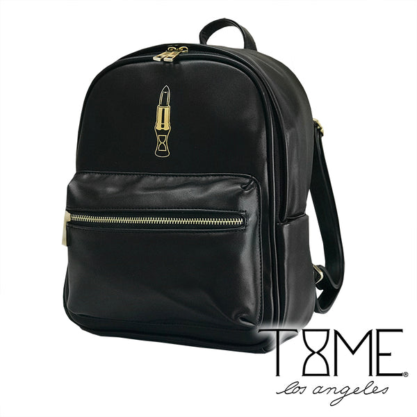 LUXE LIPSTICK BACKPACK PURSE - BLACK