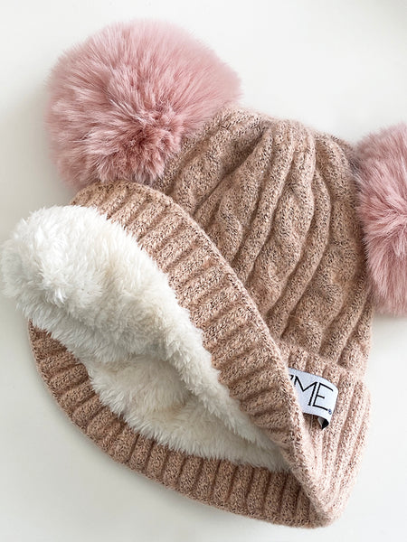 LUXE DOUBLE POM BEANIE PRE-ORDER