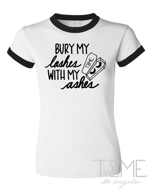 BURY MY LASHES RINGER TEE