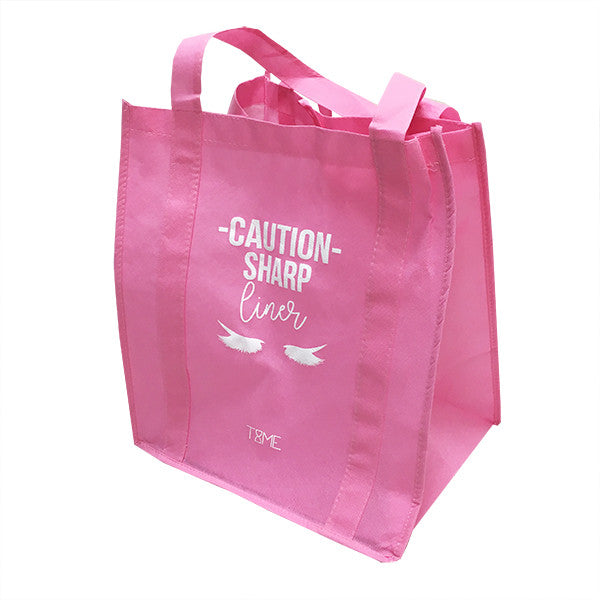 *GRADE B* CAUTION SHARP LINER GROCERY TOTE