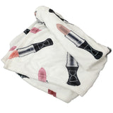 LIPSTICK MONOGRAM FLEECE THROW