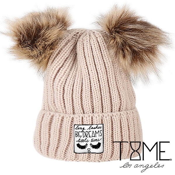 LONG LASHES POM BEANIE