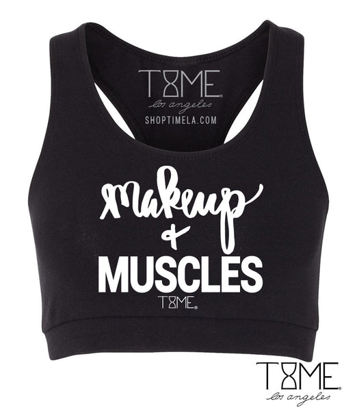 MAKEUP + MUSCLES SPORTS BRA