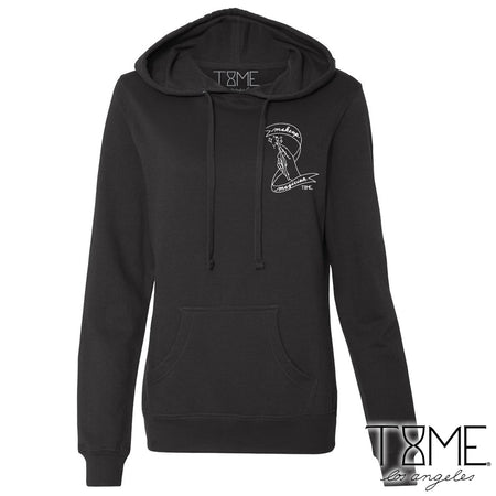 NO. 1 GLITTER FRENCH TERRY HOODIE (BLACK)