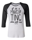 MAKEUP TING BASEBALL TEE