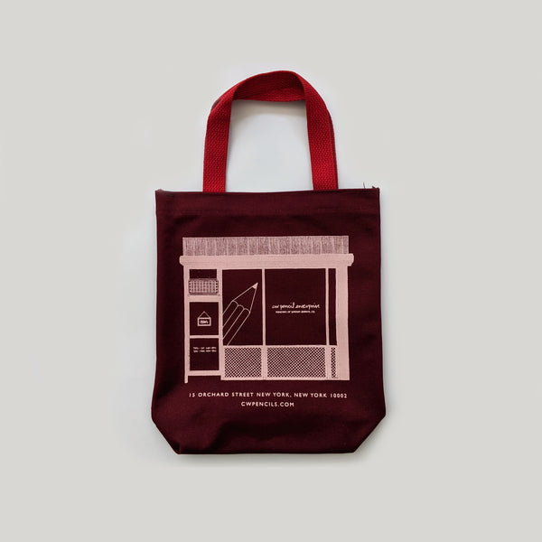 CWPE Shop Tote Bag - Mini Burgundy/Pink