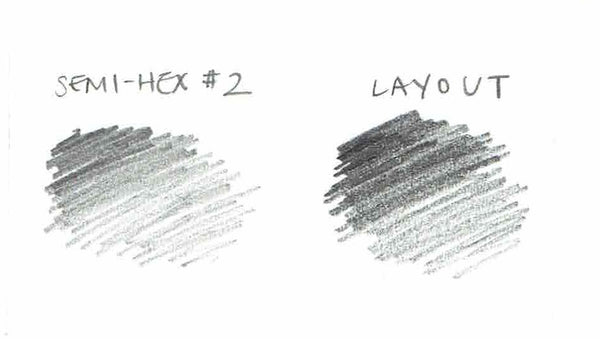 Layout 555 Extra-Black Pencil - CW Pencil Enterprise