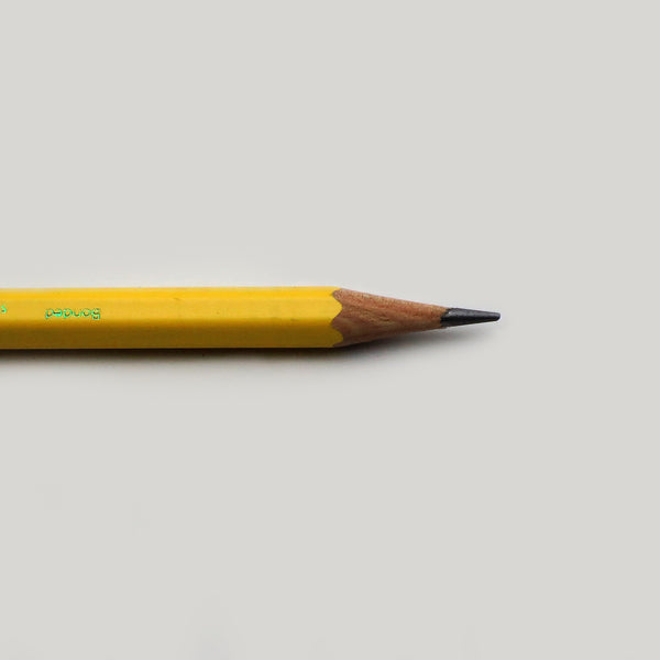 Sharpened point Calendar #2 pencil un-tipped