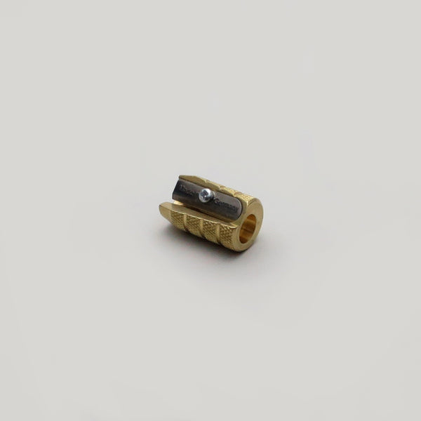 M+R Brass Bullet single hole pencil sharpener