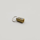 M+R Brass Bullet single hole pencil sharpener with key ring