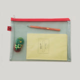 Large Mesh Stationery Pouch - Green - CW Pencil Enterprise