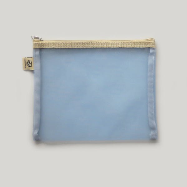 Mesh Stationery Pouch - Light Blue