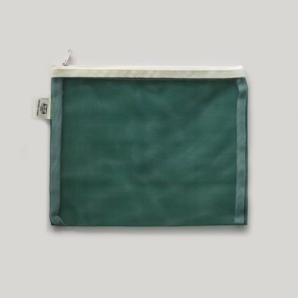 Mesh Stationery Pouch - Green