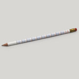 Multiplication Table #2 Pencil - White