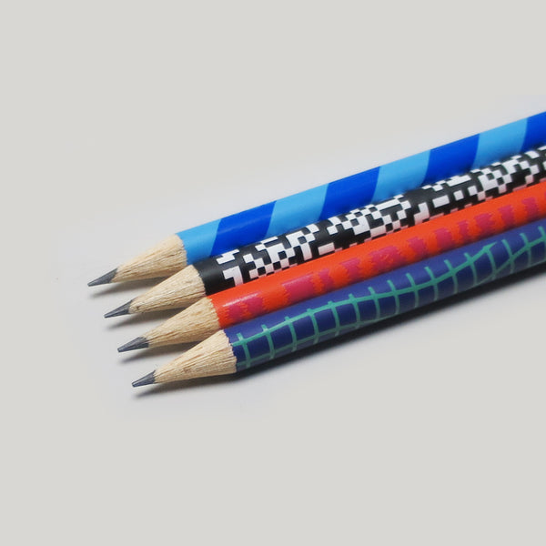 Wavy Grid Pattern Pencil - HB - CW Pencil Enterprise