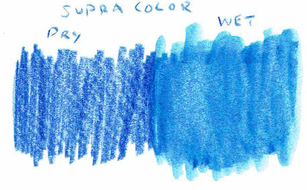 Supracolor water soluble wet dry swatch