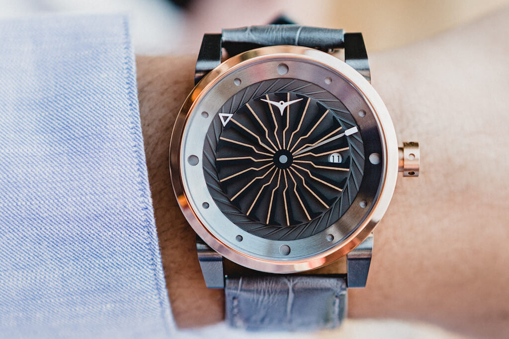 ZINVO Blade Fusion Rose Gold Mens Fashion Watch