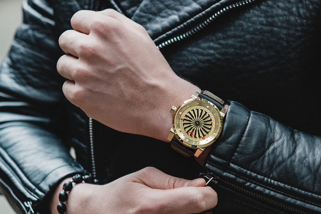 Blade Gold ZINVO Mens Luxury Edition Watch