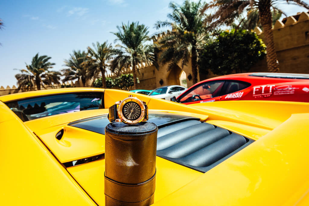 Supercars Club Arabia ZINVO Blade Rose Gold Watch