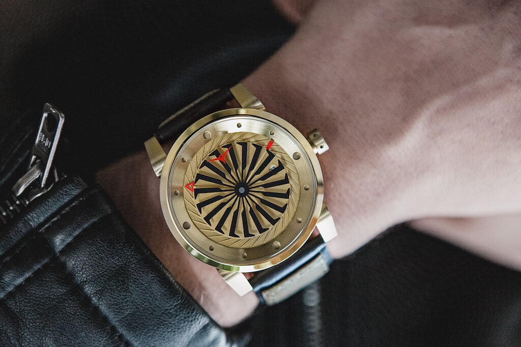 ZINVO Mens Blade Gold Watch Style