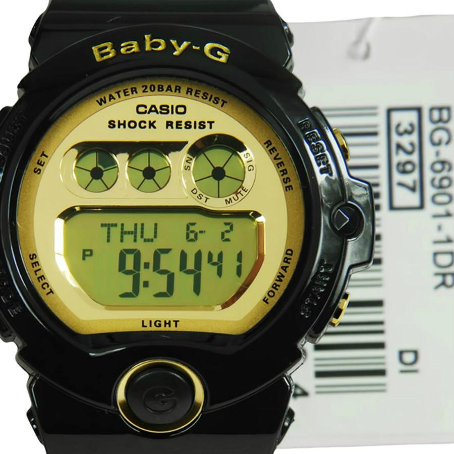 Casio Womens Baby-G Black Resin Quartz Watch