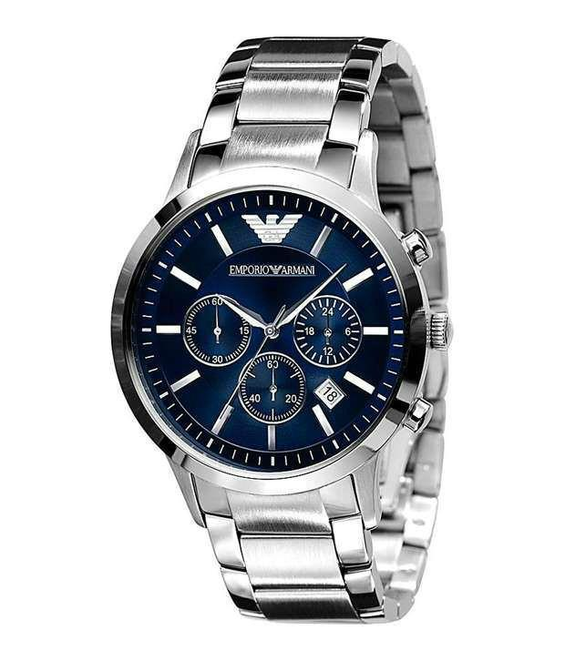 Emporio Armani Chrono Classic Blue Mens Watch