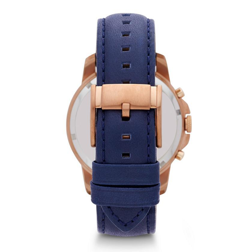 Fossil Grant Navy Dial Blue Leather Mens Watch