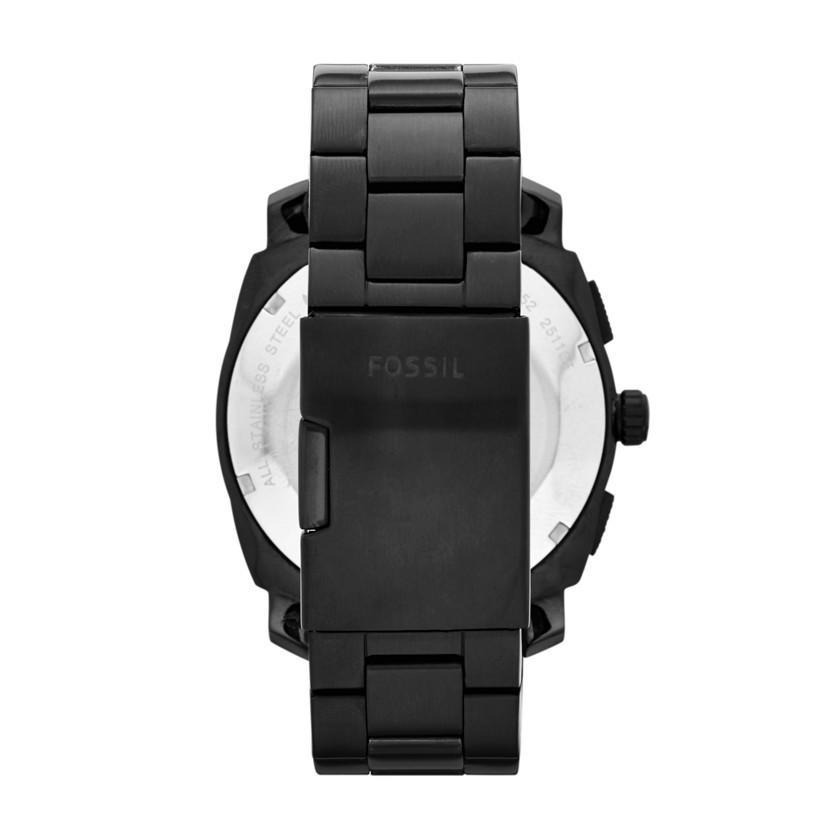 Fossil Maine Black SS Mens Watch