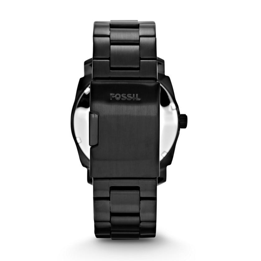 Fossil Mens Machine Black SS Analog  Watch