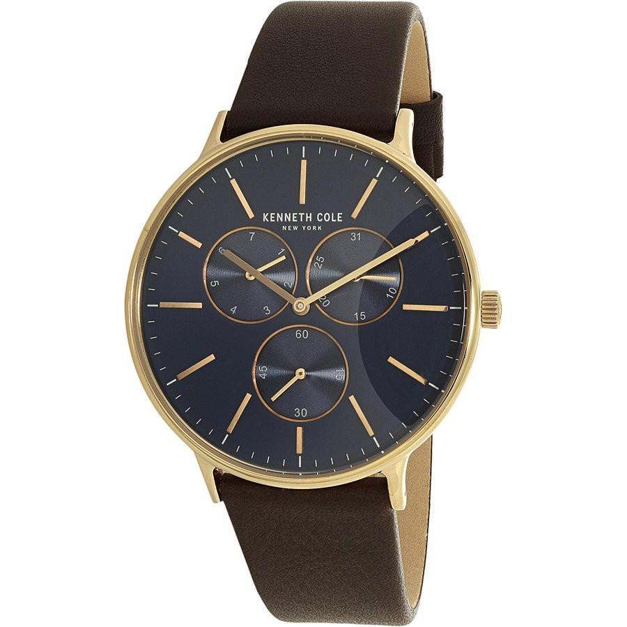 Mens Brown Watch Kenneth Cole Dress Leather E9H2YWDI