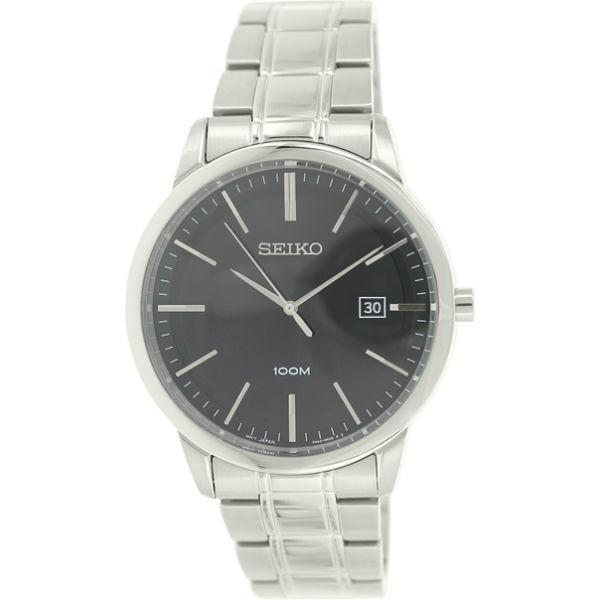 Seiko Silver Ss Mens Watch