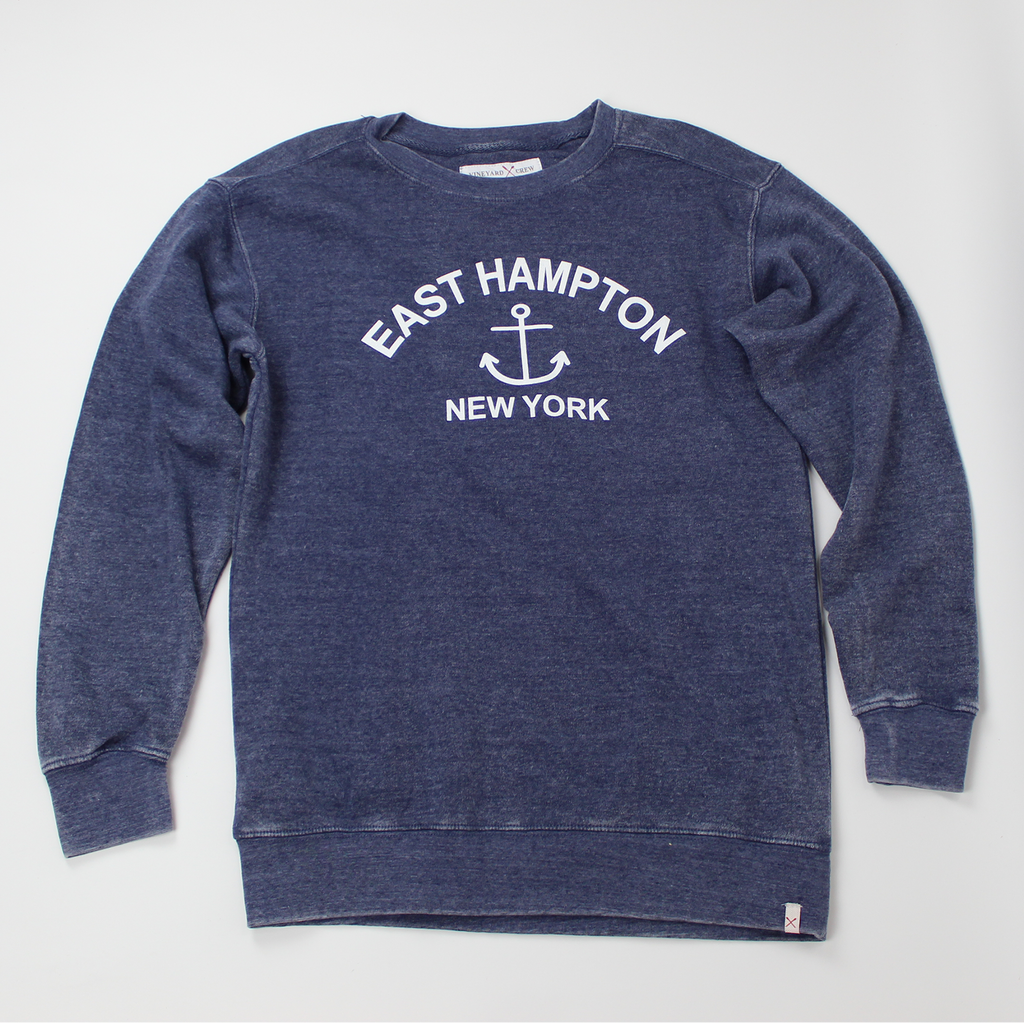 East Hampton, NY Burnout Crew Neck Sweatshirt