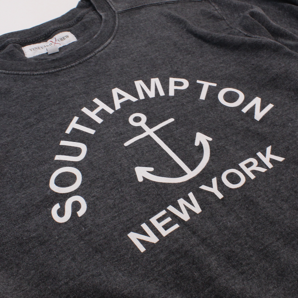 Southampton, New York Burnout Crew Neck Sweatshirt