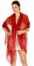 Viscose with lurex Red