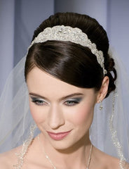 Beaded tie-headband 6161