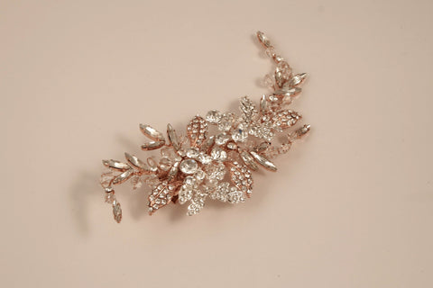 Rhinestone Rose Gold Hair Clip S-2718M