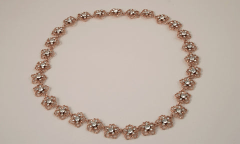 Rose Gold Flower Halo/Belt B-4224