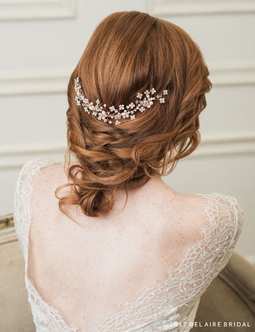 Rhinestones and Pearl Back Headpiece