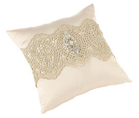 Gold and Lace Ring Pillow