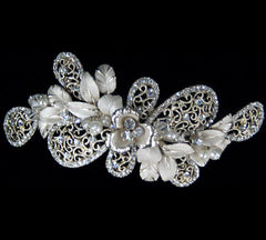 Swarovski Crystal and Pearl Gold Hair Clip TR-2601LG