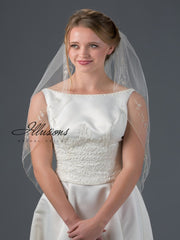 Beaded edge wedding veil V-7055