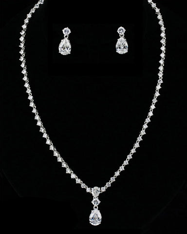 CZ Drop Necklace Set DR-244