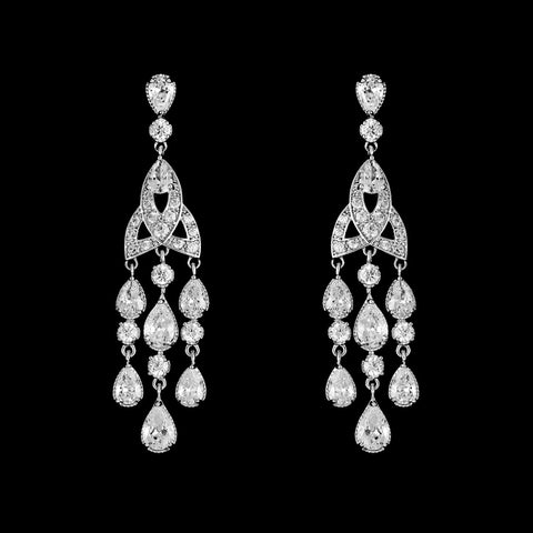 CZ Chandelier Earrings E-6498