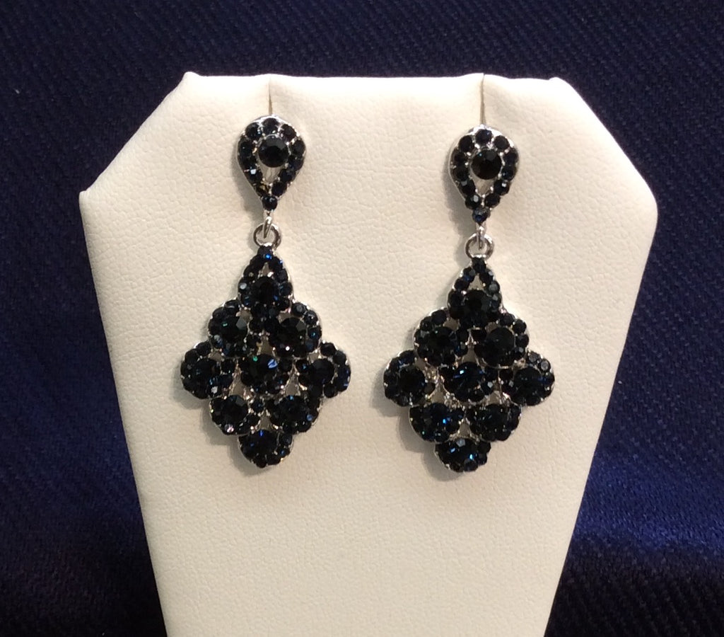 Sapphire Cubic Zirconia Dangle Earrings EE-1014