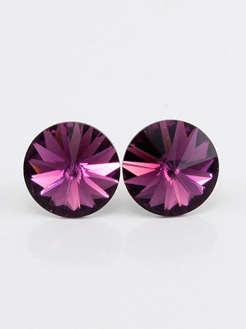 Fashion Round Crystal 0.2 inch Stud Earring