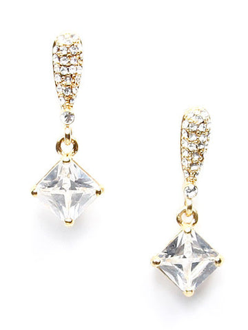 Fashion Crystal Square Earring