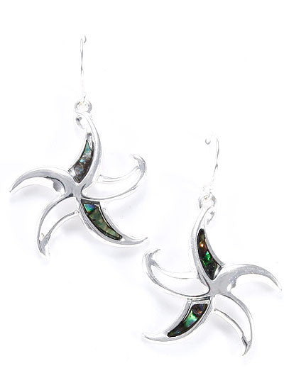 Starfish with Abalone Fish Earring
