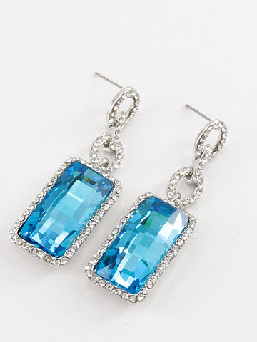 Fashion Rhinestone Accent with Crystal Stud Earring
